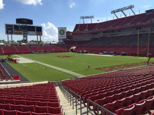 Raymond James Stadium, section: 144, row: Cc, seat: 20