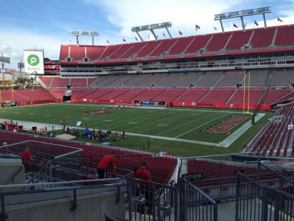Raymond James Stadium, section: 216, row: F, seat: 17