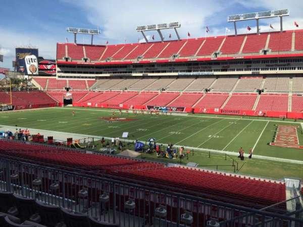 Raymond James Stadium, section: 214, row: E, seat: 22