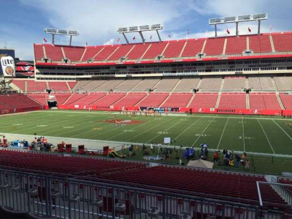 Raymond James Stadium, section: 213, row: E, seat: 18