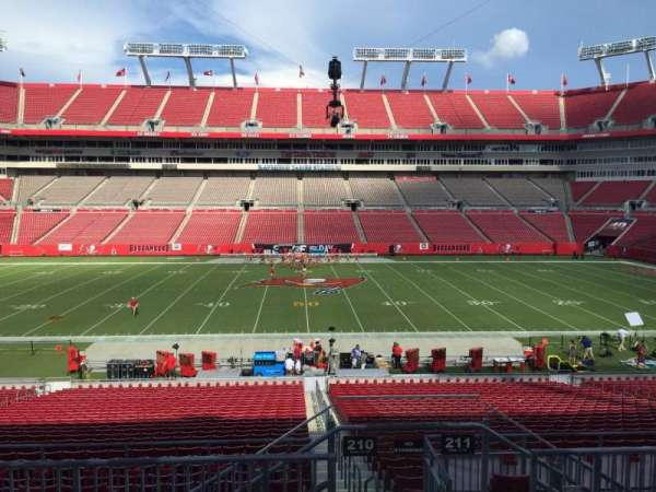 Raymond James Stadium, section: 210, row: F, seat: 24