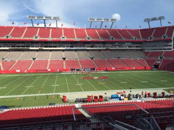 Raymond James Stadium, section: 209, row: E, seat: 18