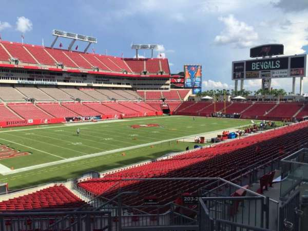 Raymond James Stadium, section: 203, row: F, seat: 24