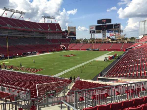 Raymond James Stadium, section: 226, row: F, seat: 1