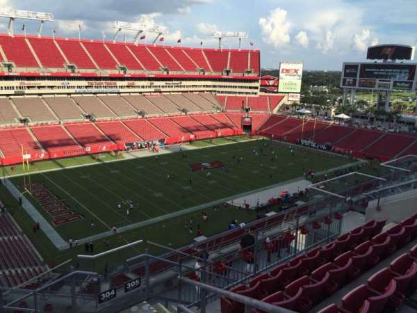 Raymond James Stadium, section: 304, row: E, seat: 24