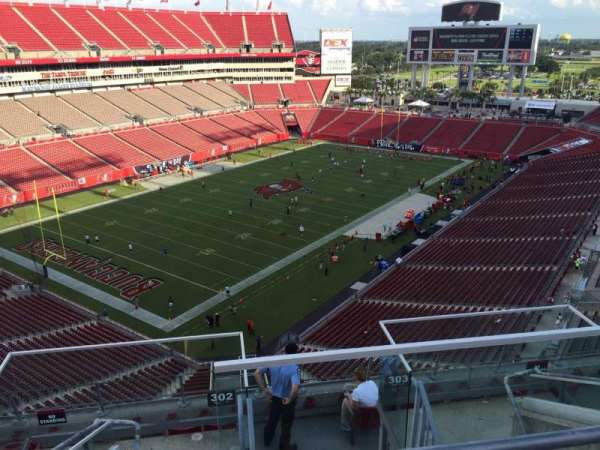 Raymond James Stadium, section: 302, row: E, seat: 13