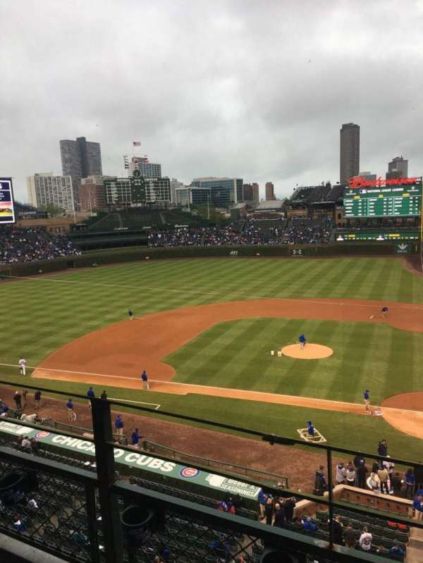 Wrigley Field, section: 313L, row: 2, seat: 6