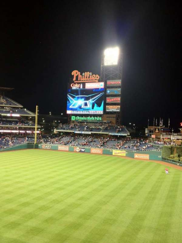 Citizens Bank Park, section: 208, row: 1, seat: 8