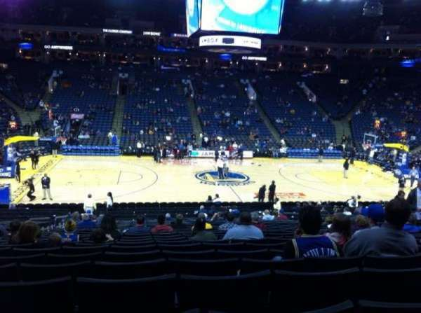 Oracle Arena, section: 115, row: 22, seat: 9