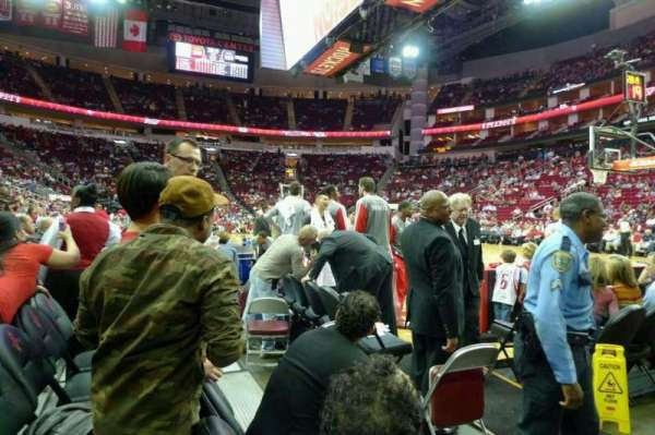 Toyota Center, section: C118A, row: C, seat: 1