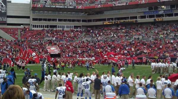 Raymond James Stadium, section: 136, row: E, seat: 9
