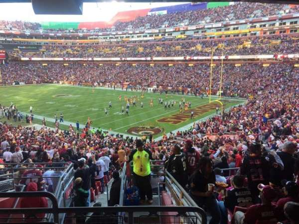FedEx Field, section: 215, row: 9, seat: 25