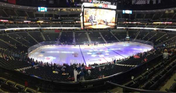 Pepsi Center, section: 204, row: 4, seat: 1,2,3,4