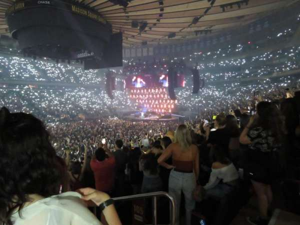 Madison Square Garden, section: 105, row: 18, seat: 17