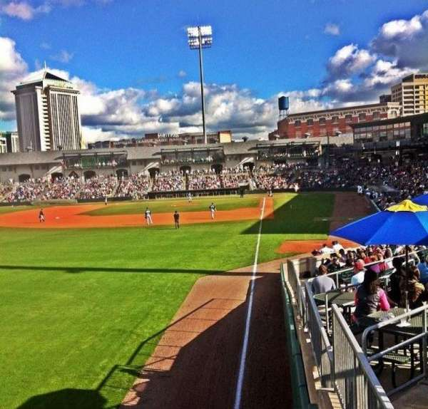 Montgomery Riverwalk Stadium, section: Left Field Standing Rail