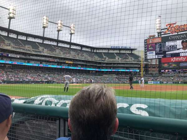 Comerica Park, section: 119, row: 2, seat: 1