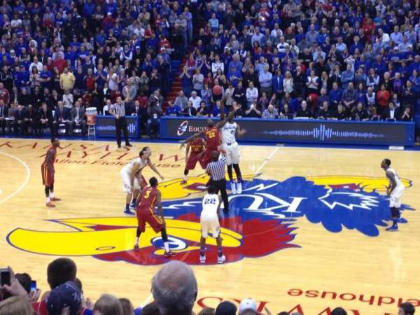 Allen Fieldhouse, section: 5, row: 4, seat: 18