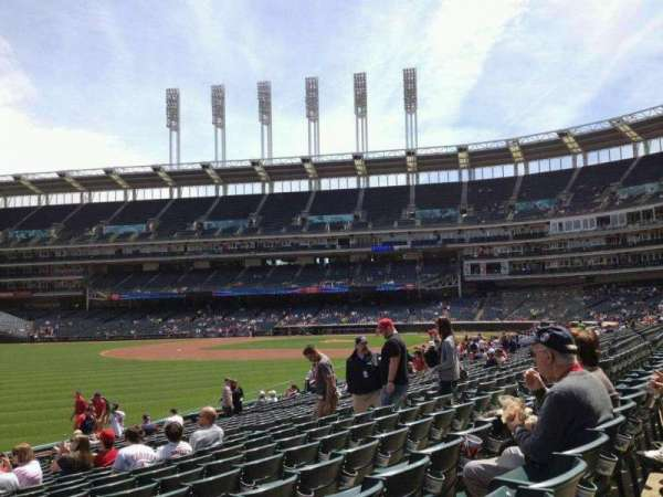 Progressive Field, section: 175, row: T