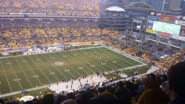 Heinz Field, section: 532, row: EE, seat: 1