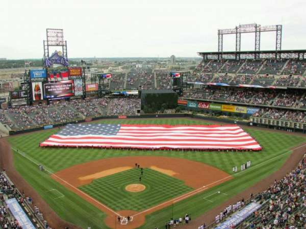 Coors Field, section: U329, row: 16, seat: 20