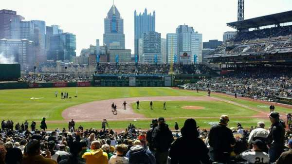 PNC Park, section: 124, row: EE, seat: 1