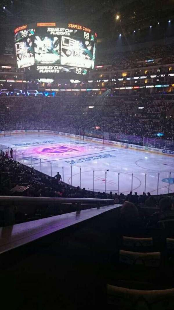 Staples Center, section: 210, row: 8, seat: 13