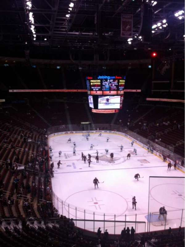 Gila River Arena, section: 225, row: B, seat: 1