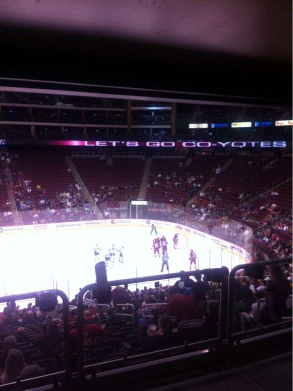 Gila River Arena, section: 122, seat: 1