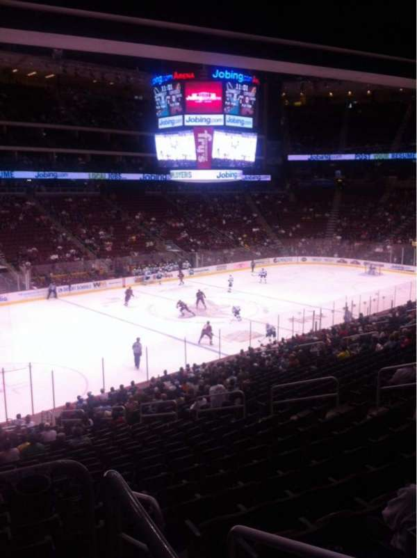Gila River Arena, section: 114, row: W, seat: 14