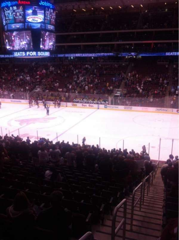 Gila River Arena, section: 109, row: V, seat: 24