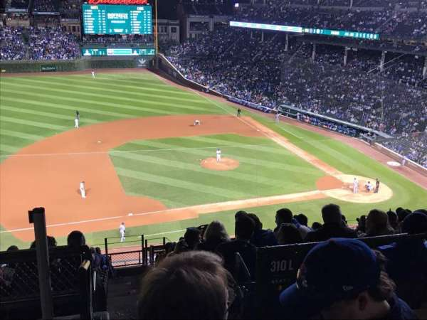 Wrigley Field, section: 410L, row: 1, seat: 19