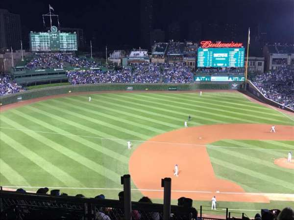 Wrigley Field, section: 410L, row: 1, seat: 20
