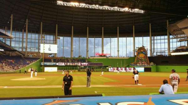 Marlins Park, section: 9, row: B, seat: 1