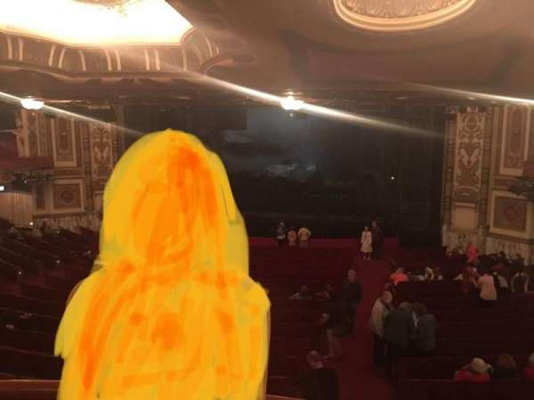 Cadillac Palace Theater, section: Dress Circle RC, row: A, seat: 225
