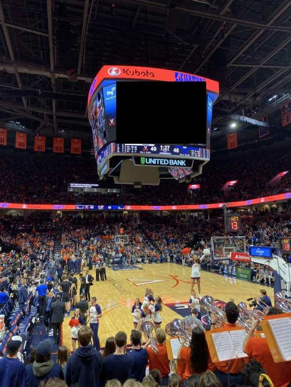 John Paul Jones Arena, section: 108, row: Roughly M or so