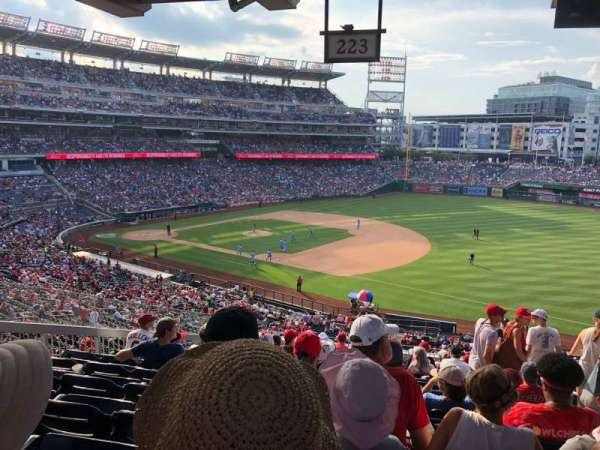 Nationals Park, section: 223, row: P, seat: 3
