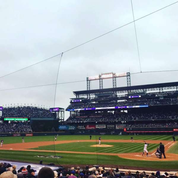 Coors Field, section: 134, row: 15, seat: 3