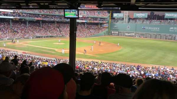 Fenway Park, section: Grandstand 12, row: 16, seat: 6