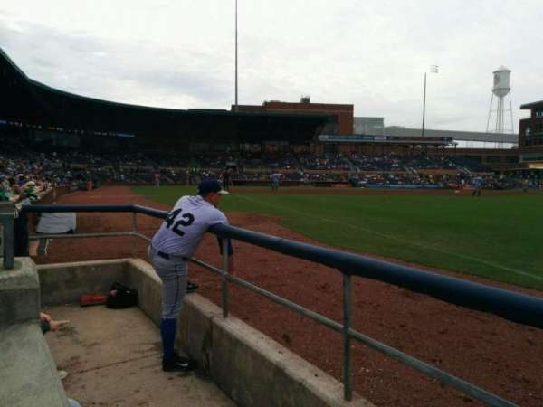 Durham Bulls Athletic Park, section: 120, row: a, seat: 22
