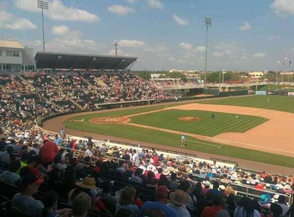 Hammond Stadium, section: 201, row: 14, seat: 1