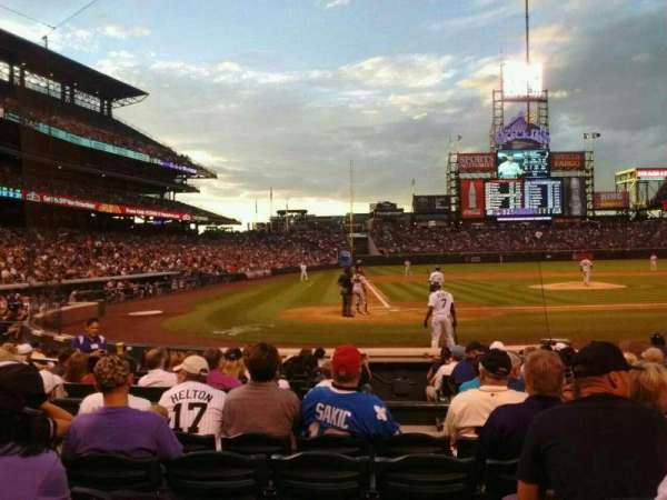 Coors Field, section: 126, row: 8, seat: 6
