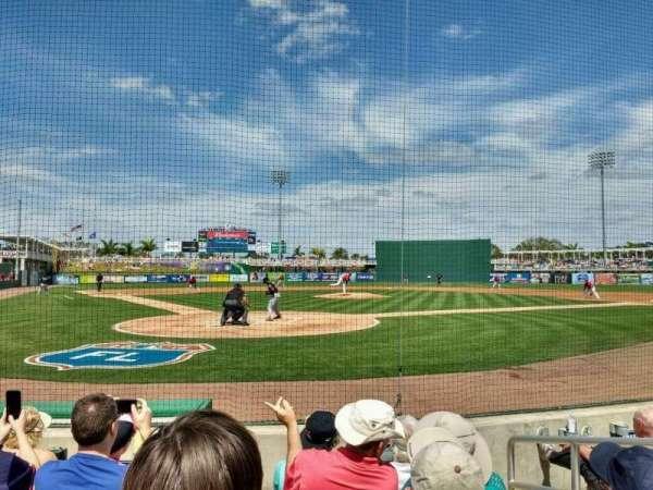 Hammond Stadium, section: 107, row: 3, seat: 3