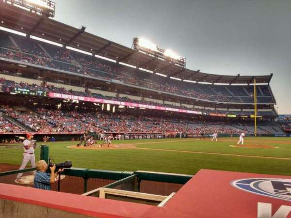 Angel Stadium, section: F124, row: d, seat: 11