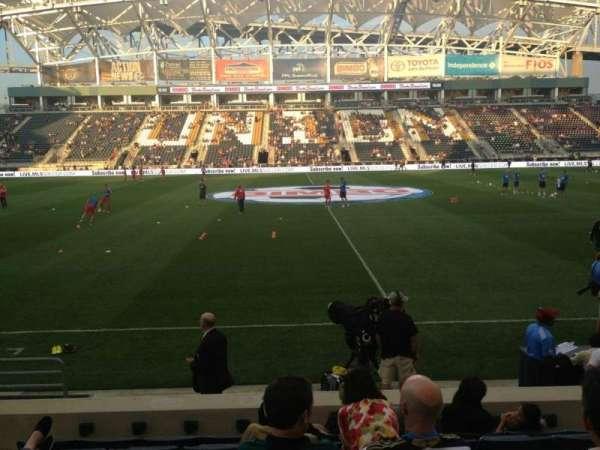 Talen Energy Stadium, section: 106, row: N, seat: 4