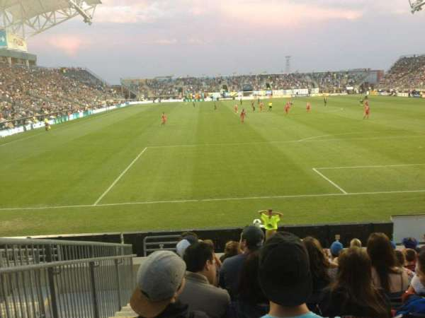 Talen Energy Stadium, section: 118, row: K, seat: 17