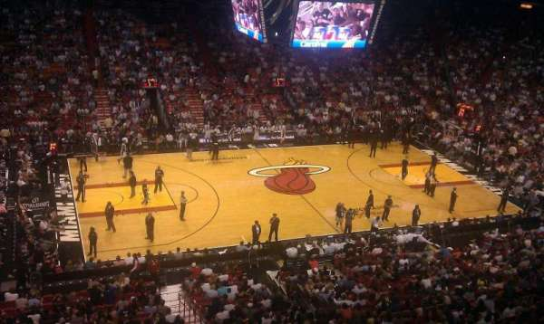 American Airlines Arena, section: 326, row: 1, seat: 10