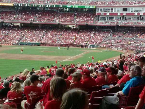 Great American Ball Park, section: 108, row: oo, seat: 1