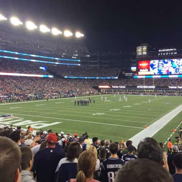 Gillette Stadium, section: 140, row: 15, seat: 3