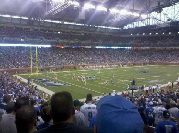 Ford Field, section: 100, row: 29, seat: 18
