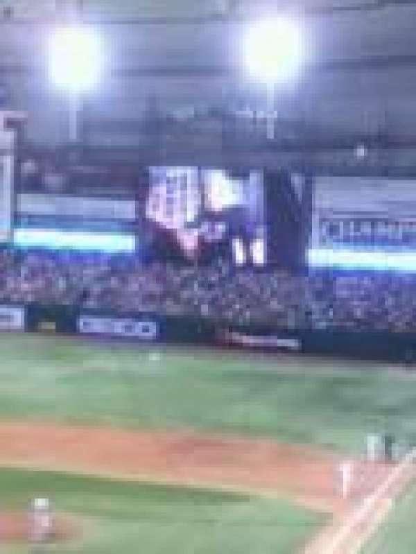 Tropicana Field, section: 205, row: 1